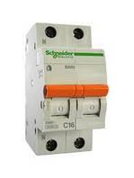 Автоматический выключатель Schneider-Electric Домовой ВА63 1P+N 25A C