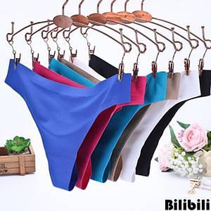 Трусики безшовні Bilibili під спортивні жіночі фіолетові