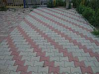 "Тротуарная плитка ""Катушка"", серый, 30 мм"