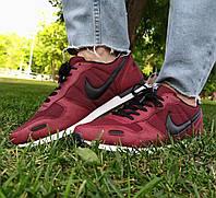 Кроссовки мужские  Nike Air бордового цвета New (копия)