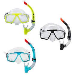 Набір для плавання маска з трубкою Dolvor М4204Р+SN07P