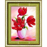 """""""Красные тюльпаны - 2"""" Набор для рисования камнями"""