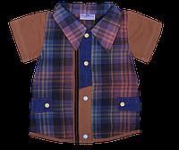 Рубашка трикотажная на мальчика (3-12 мес.)