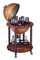 Глобус бар напольный на 4 ножки 450 мм коричневый 45043R