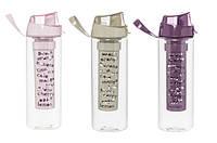 Бутылка для спорта с инфузером HEREVIN Fruit Pastel Colours 0,65 л