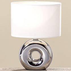 Лампа Нежность серебряная керамика h26см 8095400