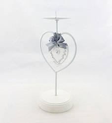 Подсвечник металлический-Сердце с бантом 258109
