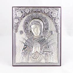Икона Семистрельная на деревянной основе 1058