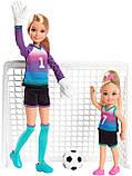 Ігровий набір ляльки Барбі Стейсі і Челсі футболістки, фото 2