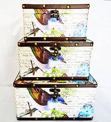 Шкатулка набор из 3-х – Птица SH31374-079