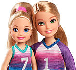 Ігровий набір ляльки Барбі Стейсі і Челсі футболістки, фото 3