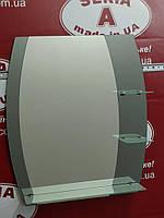 Зеркало в ванную с тремя полками (бочка) №60 /Дюбель в Подарок