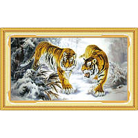 """""""Тигры на снегу"""" Набор для рисования камнями"""