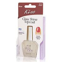 KISS Фиксатор лака c эффектом блеска  GLASS SHINE