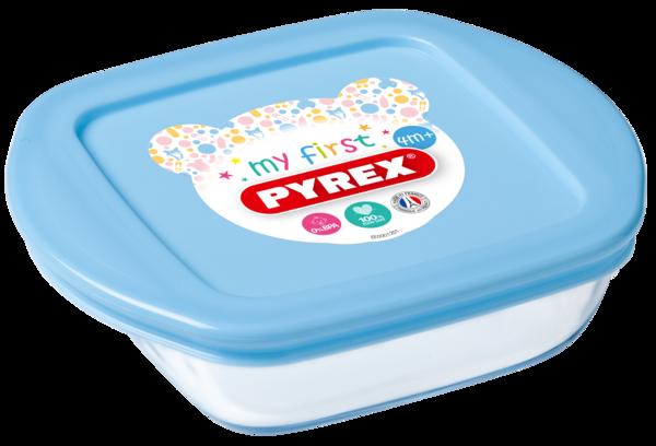 Форма с/к PYREX BABY BLUE форма стекл.квадр. 0.35л (14х12х4см) (210PAV3)