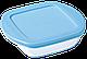 Форма с/к PYREX BABY BLUE форма стекл.квадр. 0.35л (14х12х4см) (210PAV3), фото 2