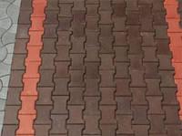 """Тротуарная плитка """"Катушка"""", цветной, 30 мм"""