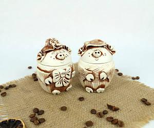 Поросята набор для специй из керамики