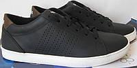 Adidas кожаные подростковые синие кеды стильные кроссовки STАN SМITH перфорация, фото 1