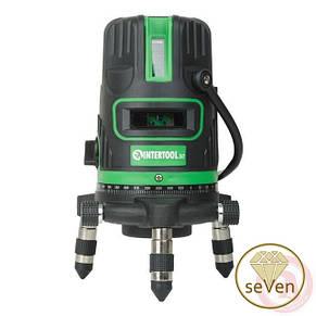 Уровень лазерный, 5 лазерных головок, зеленый луч, звуковая индикация INTERTOOL MT-3008, фото 2