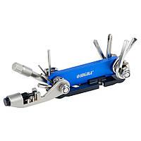Мультиинструмент велосипедиста 92мм 15в1+лопатка монтажная Sigma (4375631)