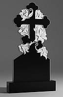 Памятник Крест с лилиями