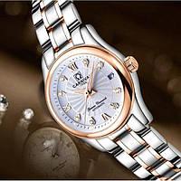 Женские механические часы Carnival White с автоподзаводом, 25 камней
