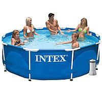 Каркасный бассейн Intex 28200-4 с картриджным насосом, тентом и подстилкой
