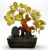 Дерево с монетами (8108-1)(17х16,5х7,5 см)