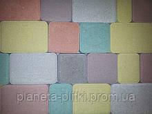 """Тротуарна плитка """"Старе місто"""", кольоровий, 80 мм"""