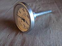 "Термометр  PAKKENS + 0 до +500 градусов, трубка-гильза 10 см с резьбой 1/2"""