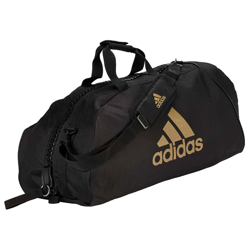 """Сумка Adidas Bag """"Martial arts"""" Nylon, adiACC052 Черная с золотым"""