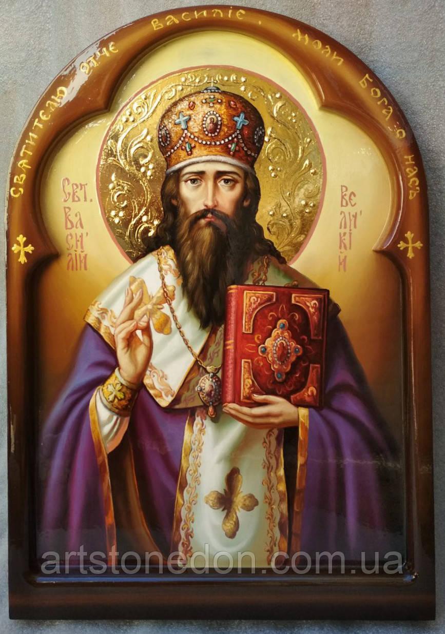 Икона Святитель Василий Великий писаная