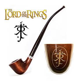 Трубка на длинном мундштуке KAF218 Churchwarden  из серии Властелин Колец с символом Толкина