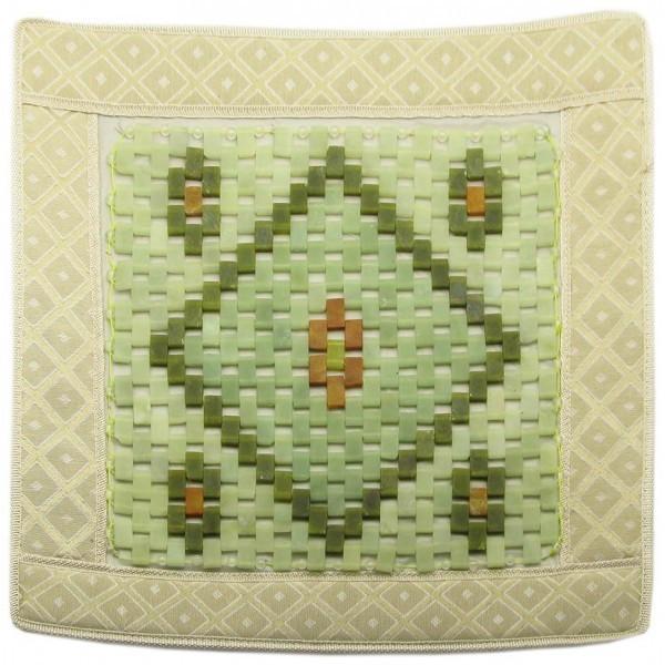 Квадратный коврик массажный с прямоугольными нефритовыми вставками