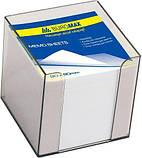 Блок бумаги для заметок Jobmax 90х90х70 мм, белый, не склеенный, фото 3
