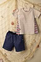 Летняя детская футболка хлопковая (3 мес-5 лет) Жираф
