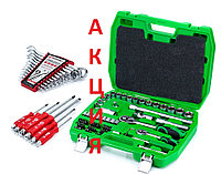 Набор инструментов 72 ед.Intertool ET-6072SP + набор ключей 12 ед.HT-1203 +Набор ударных отверток 6 шт HT-0403, фото 1