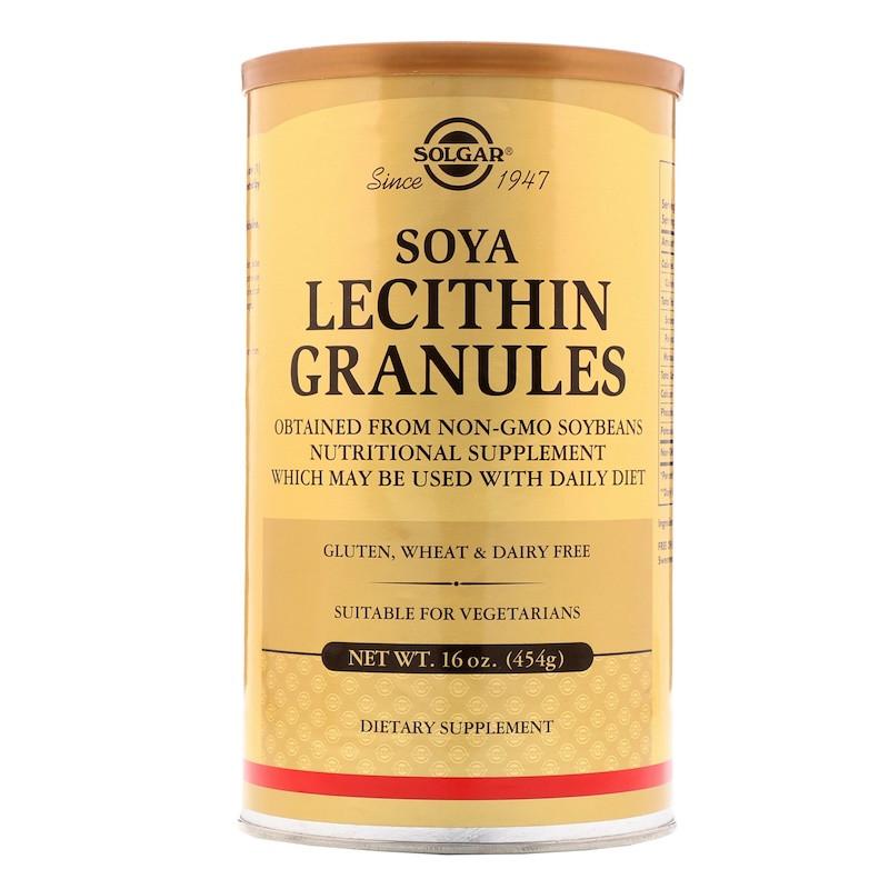 Лецитин в гранулах Solgar,  16 oz (454 г) Сдедано в США