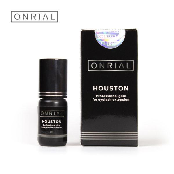 Профессиональный черный клей для наращивания ресниц «Houston», 1-2сек. 2 мл