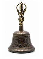Колокол чакровый (d-11,5,h-19 см)(Bell Itching No.4 Black/Gold)