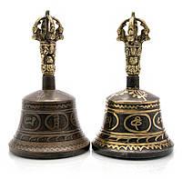 Колокол чакровый (d-8,7,h-15 см)(Bell Itching No.3 Black/Gold)