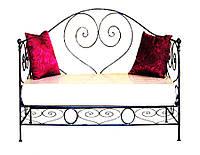 Металлический диван со спинкой в форме сердца 9(с мягким сидением)