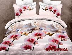 Полуторный набор постельного белья 150*220 из Ранфорса №181764 Черешенка™