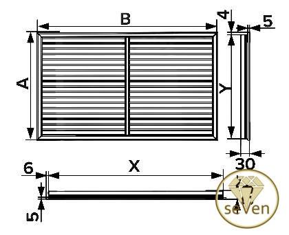 Декоративная пластиковая решетка/экран для батарей под гипсокартон, 600х900 ГОРИЗОНТАЛЬНЫЕ ЖАЛЮЗИ, фото 2