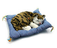 Кошка спящая на коврике (25х21х7 см)(3008)
