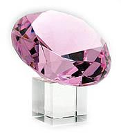 Кристалл хрустальный розовый (12см)