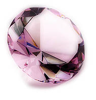 Кристалл хрустальный розовый (8 см)