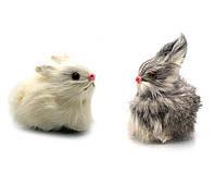 Кролик (натуральный мех)(9,5х6х5 см)