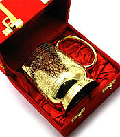 Кружка бронзовая позолоченая (15х14,5х10 см)(Velvet Box Beer Mug small GOLD)